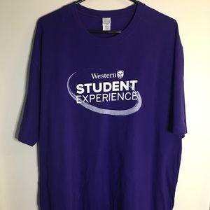 University of Western U.W.O. T shirt Sz XXL Purple
